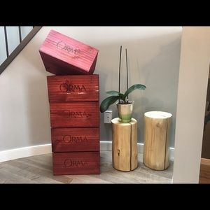 Other - Premium wood wine crate